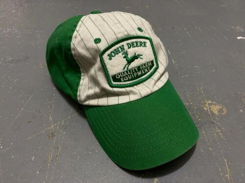 Officially licensed John Deere Quality Farm Equipment pinstripe low profile hat