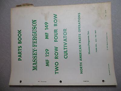 Massey Ferguson 129149 Cultivator Parts Book