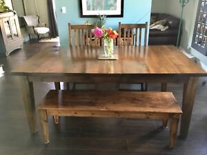 Beautiful Solid Wood Maple Table