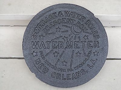 New Orleans French Quarter REAL NOLA Cast Iron Water Meter Box Cover Genuine