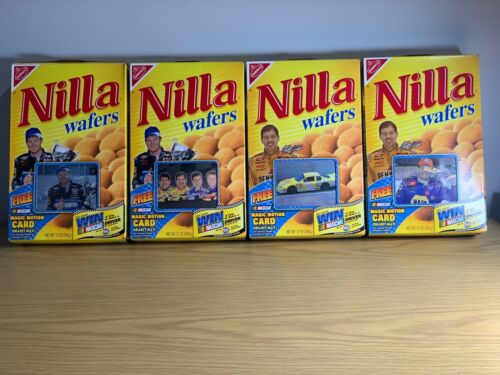 2002  Nilla Wafers with 4 Nascar Magic Motion Cards new on Boxes