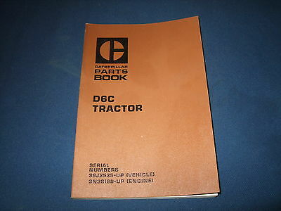 Cat Caterpillar D6c Crawler Tractor Dozer Parts Book Manual S N 99J2535 Up