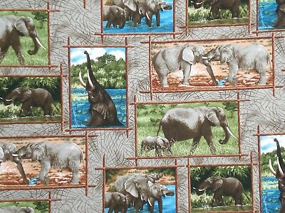 """ELEPHANT SCENES 20"""" NAPKINS - SET OF 2 - OTHER ANIMAL PRINTS ALSO AVAILABLE"""