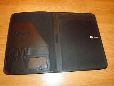 Leeds Leather Padfolio Organizer With Letter Notepad Holder Pen Holder