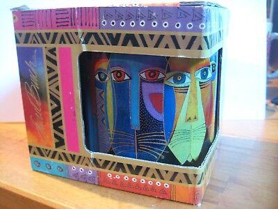 Laurel Burch Colorful Tribal Cat Cup/Mug w/ Box from 2014 (Tribal Cat)