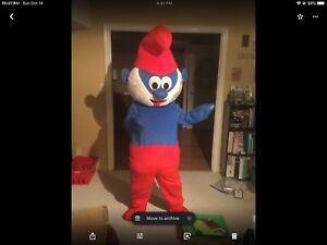 Real PAPA smurf mascotte costume