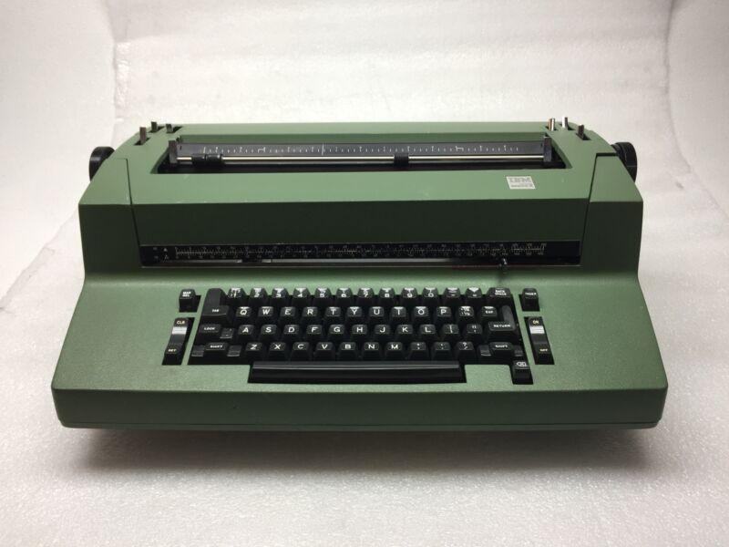 Vintage Hunter Green IBM Selectric II Correcting Electric Typewriter AS-IS/Parts