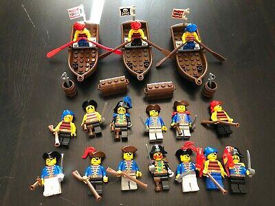 16 minfig lot Vintage Lego Pirates I minifigure mini fig hook Red Beard set
