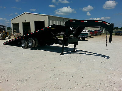 Kerr-bilt 26 Gooseneck Hydraulic Tilt With Sliding Axle Container Trailer