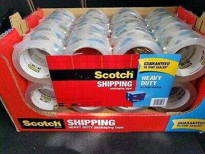 Scotch Clear Heavy Duty Shipping Packaging Tape 16 Rolls 874 Yd 400m