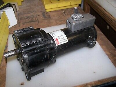 Dayton Dc Gear Motor 18 Hp 4z129a 90vdc Rpm 54 58 Shaft Tested Working