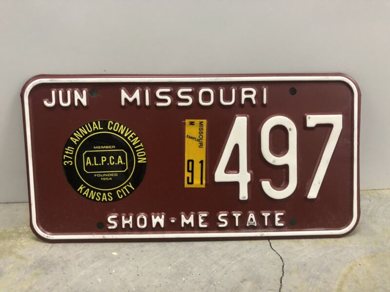 Missouri Souvenir License Plate #497