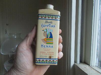 NESTLE EGYPTIAN HENNA HAIR TINT VINTAGE TIN WITH ORIGINAL TIN CAP COLORFL