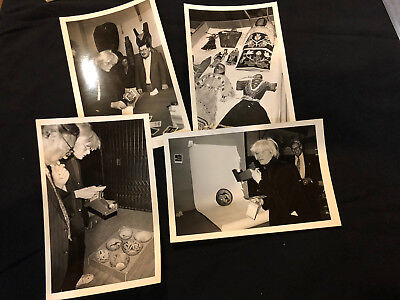 Lot of 4 Vintage photographs of Andy Warhol at indigenous exhib(Artist Unknown)