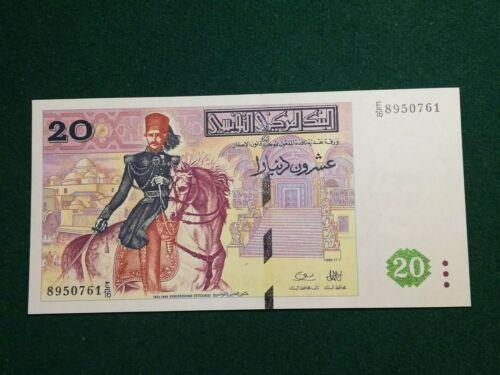 TUNISIA 20 DINARS 1992 UNC
