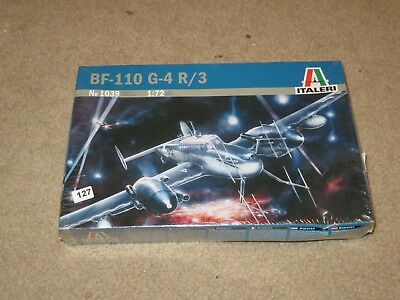Italeri Aircraft Model Master BF-110 G-4 R/3 1039 1:72 Kit MISB Sealed 2004