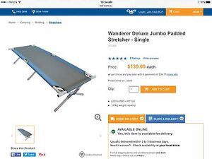 Wanderer Deluxe Jumbo Padded Stretcher - Single Greenwood Joondalup Area Preview