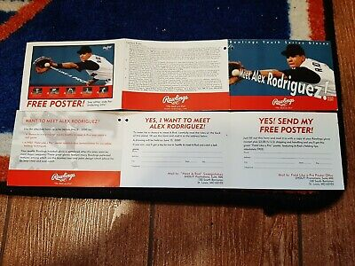 Vintage 2000 Rawlings ALEX RODRIGUEZ NY YANKEES Glove Tag (trifold) NMT-RARE!!!!