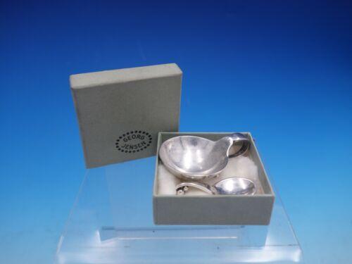 Georg Jensen Sterling Silver Salt Cellar with Spoon in Original Box (#4147)