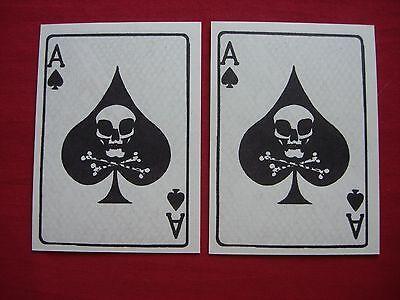 Lot Of 2 Vietnam War ACE Of SPADE Propaganda Cards *Old Stock Unissued*