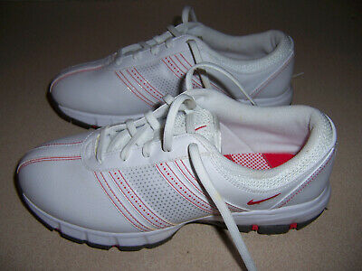 NIKE Delight Womens Tac Spike Soft Cleat Golf Shoes 7.5 White/Red Womens Delight Golf Shoes