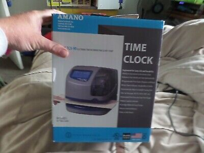 Amano Electronic Atomic Time Clock With Time And Date Stamp Tcx90