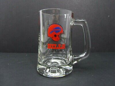 Buffalo Bills 1984-1986 Pizza Hut 1987 Home Of The Pan Pizza Glass Mug Stein Cup