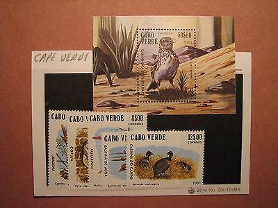 Cape Verde Stamp Scott# 436-41 Birds MNH C49