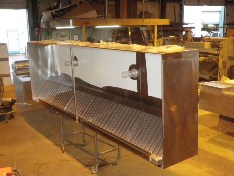 8 ft. type l commercial restaurant kitchen exhaust only hood , new