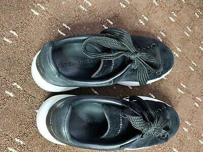 Alexander Mcqueen Black Velvet Runway Sneakers Trainers 36 Uk 3 With Receipt