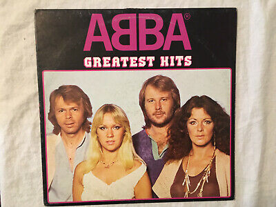ABBA Greatest Hits Milano Spain press EPIC label black vinyl LP record