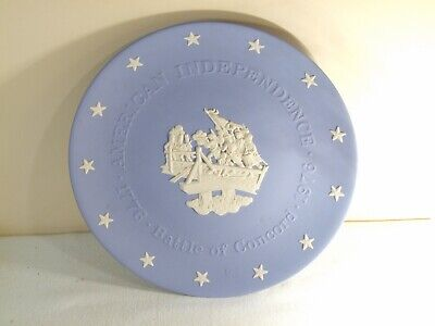 BATTLE OF CONCORD ~ WEDGWOOD BLUE JASPERWARE AMERICAN INDEPENDENCE PLATE for sale  Shipping to Nigeria