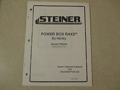 Steiner Pr348 Pr 348 Harley Power Box Rake Owners Maintenance Parts Manual