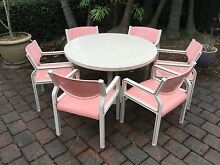 Outdoor Sebel dining table and six armchairs Strathfield Strathfield Area Preview