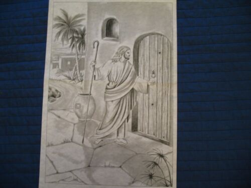 * TRI CHEM 8336 CHRIST KNOCKING AT THE DOOR JESUS Picture to paint