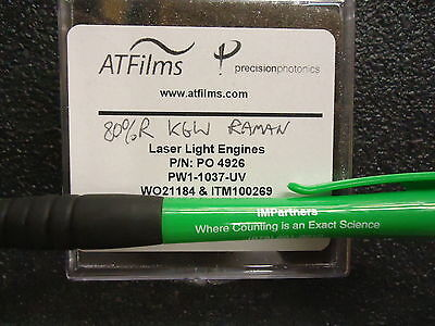 Atfilms Pw1-1037-uv Laser Grade Round Windows Fused Silica. Brand New
