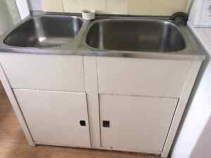 Jumbo large laundry DOUBLE sink with cabinet Willoughby Willoughby Area Preview