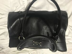 Authentic black leather Kate Spade