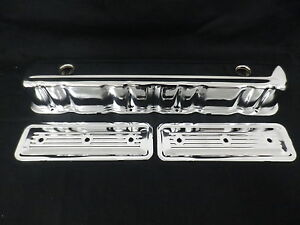 HOLDEN 6 CYLINDER VALVE COVERS AND SIDE PLATES CHROME RED - BLUE - BLACK MOTOR