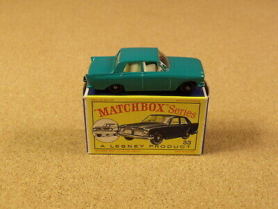 VINTAGE LESNEY MATCHBOX # 33 FORD ZEPHYR 6 MKIII ORIGINAL BOX