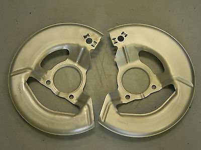 CORVETTE FRONT BRAKE DUST SHIELDS-69-82, OEM RESTORED