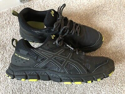men's asics gel trainers, black 8uk