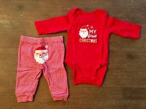 Linge de Noël pour bébé 6 mois «My first Christmas»