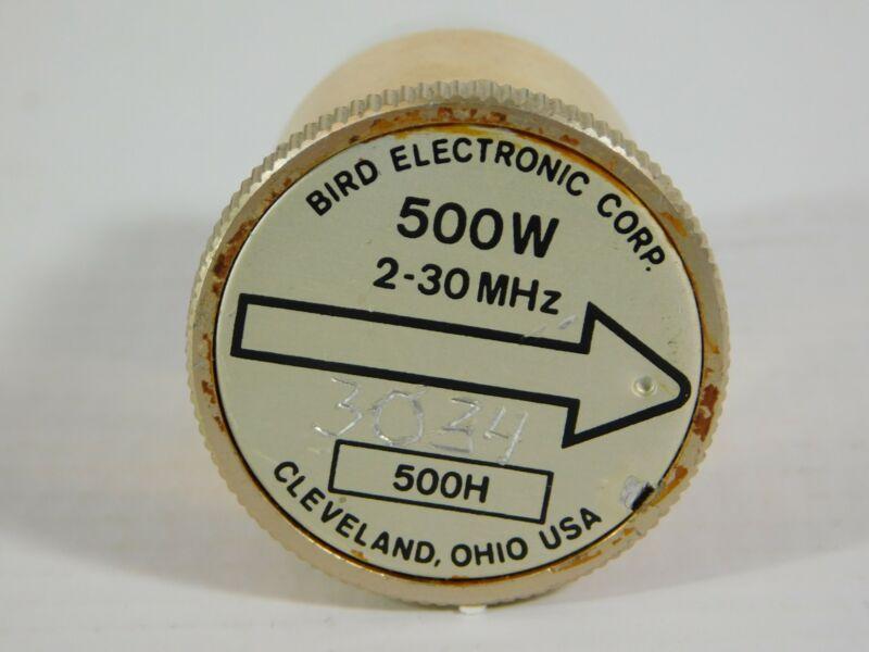 Bird 500H 2-30MHz 500W Slug Element for Model 43 Wattmeter (accurate)