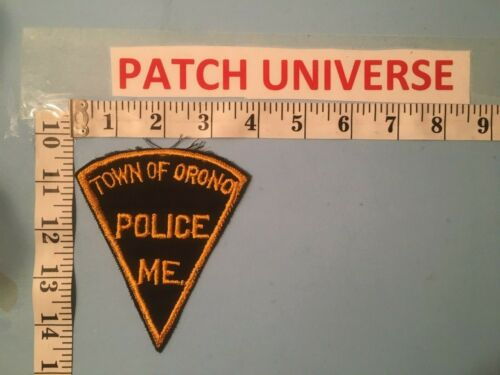 VINTAGE TOWN OF ORONO MAINE POLICE  SHOULDER  PATCH   E078
