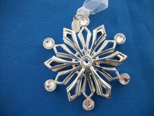 Lunt  Snowcrystal Frost Snowflake Ornament Silver Plated LO121 Made In USA  NIB