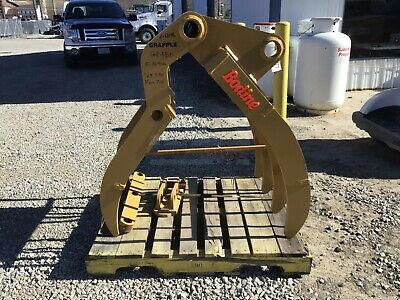 34 Bodine Gr-180 Excavator Grapple Rake Fits Cat 320 325 Komatsu Pc200 Pc240