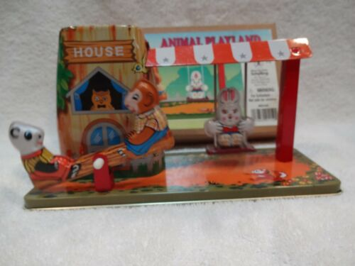 SCHYLLING TIN WIND UP ANIMAL PLAYLAND DISCONTINUED HARD TO FIND NEW OLD STOCK