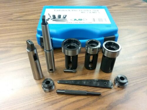 Tailstock Die Holder Set MT2 & MT3, External thread cut, 5 holders #IN-GDH016I