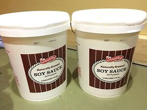 5 Gallons of soy sauce